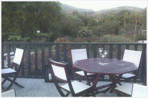 Terraza al aire libre en Ribera del Corneja