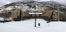 La nieve visita Ribera del Corneja