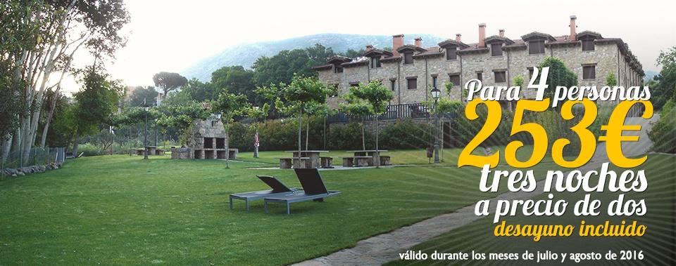 Oferta hotel rural Ávila. Para cuatro personas