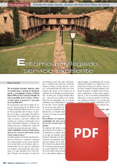 PDF Sector ejecutivo - Entrevista a Sonsoles Fernández Directora de Ribera del Corneja