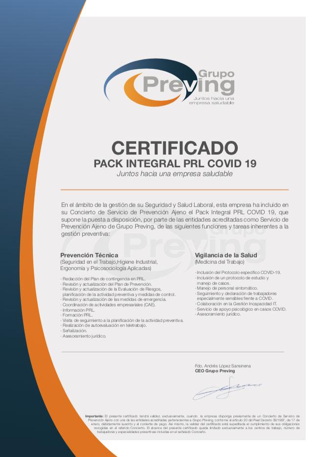 Hotel con certificado de seguridad Covid-19 en Ávila