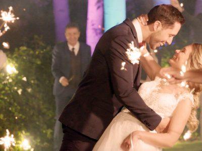 Novios en boda en Ribera del Corneja