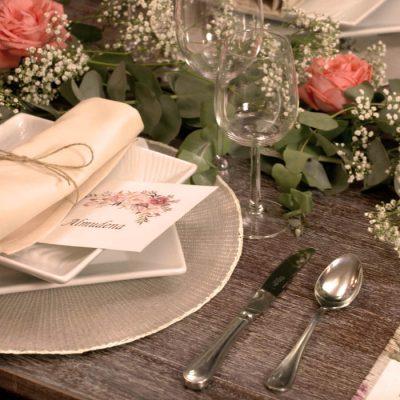 Mesa de boda del hotel rural Ribera del Corneja