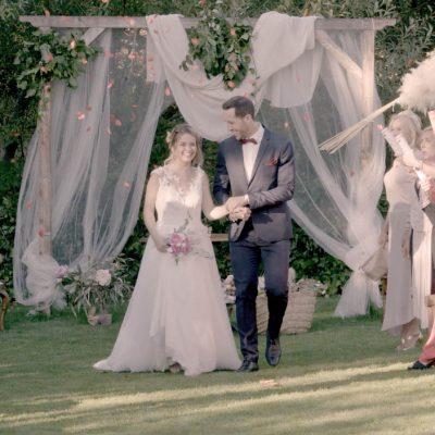 Recien casados en el hotel rural Ribera del Corneja