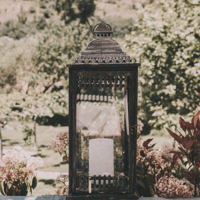 Farolillo detalle de bodas en Navacepedilla