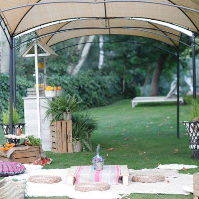 Zona preparada para bodas en Ávila